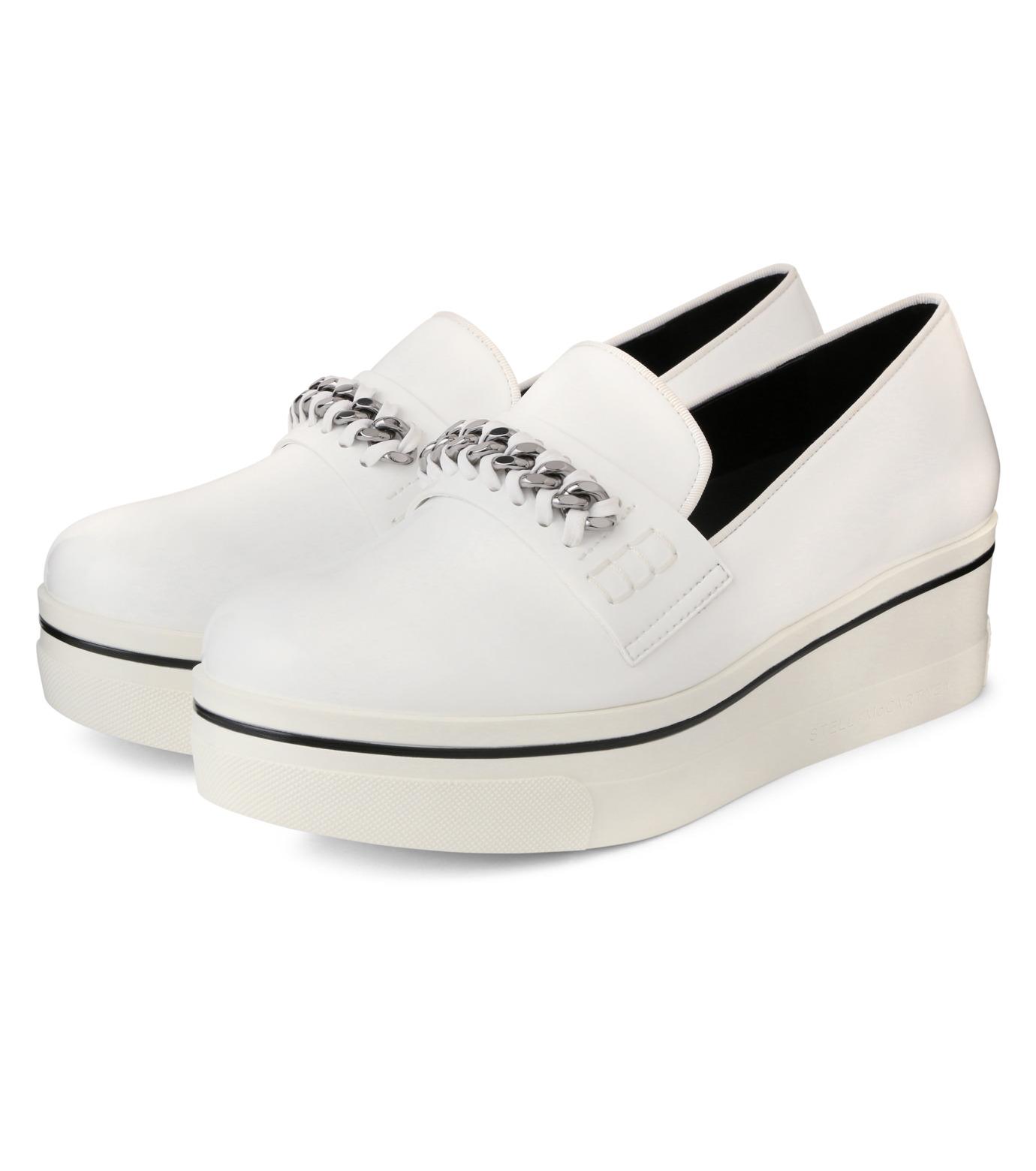 Stella McCartney(ステラマッカートニー)のBinx Sneaker-WHITE(スニーカー/sneaker)-392315-W0VE2-4 拡大詳細画像3