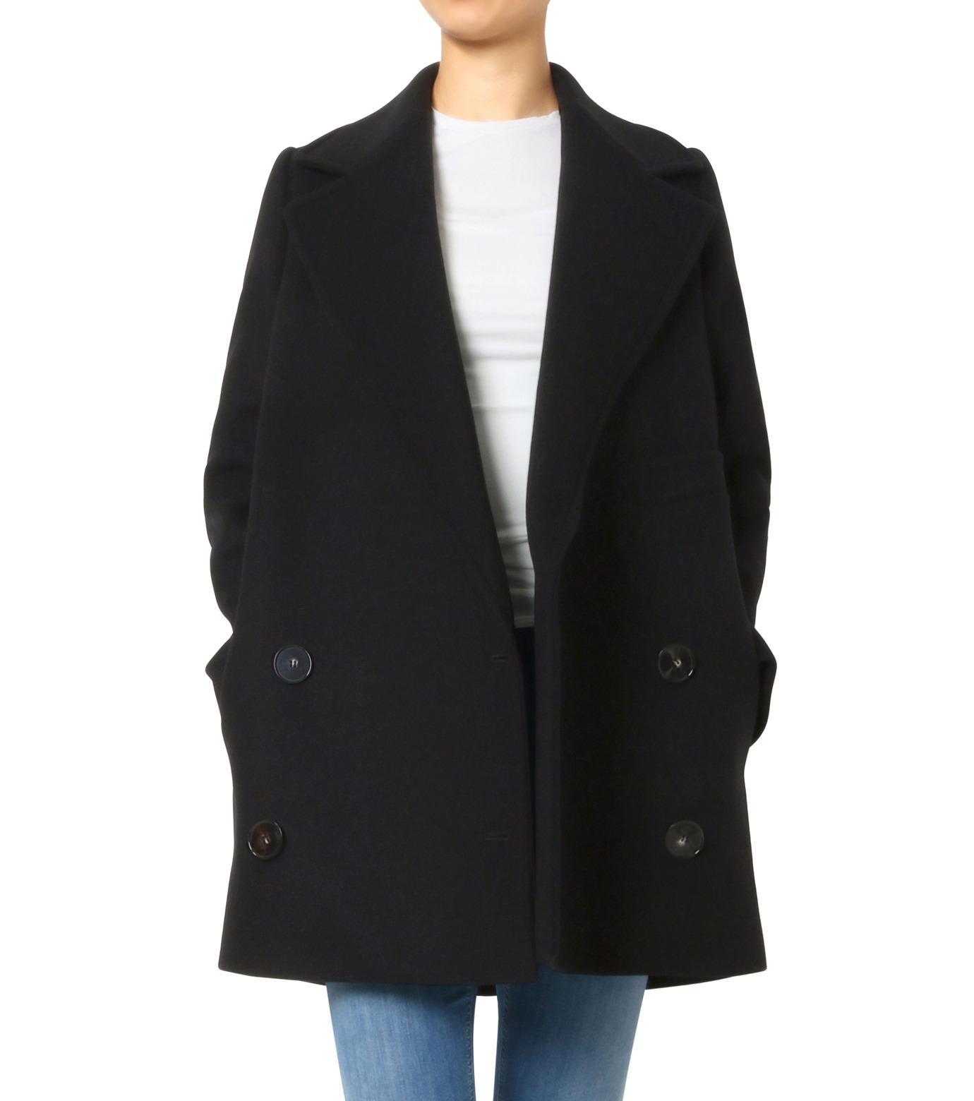 Stella McCartney(ステラマッカートニー)のWool Melton Short Coat-BLACK(コート/coat)-393143-SDB40-13 拡大詳細画像1