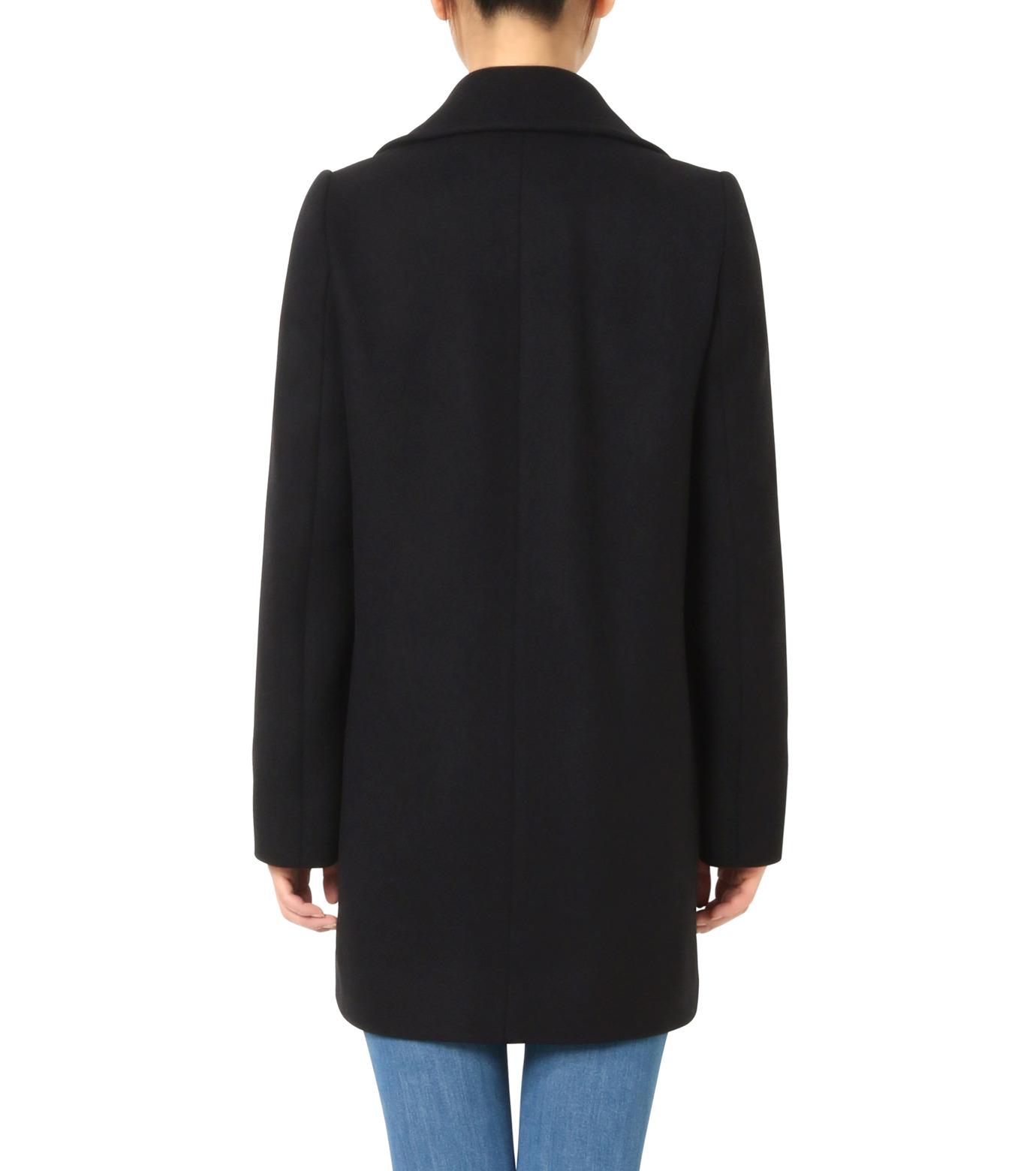 Stella McCartney(ステラマッカートニー)のWool Melton Short Coat-BLACK(コート/coat)-393143-SDB40-13 拡大詳細画像2