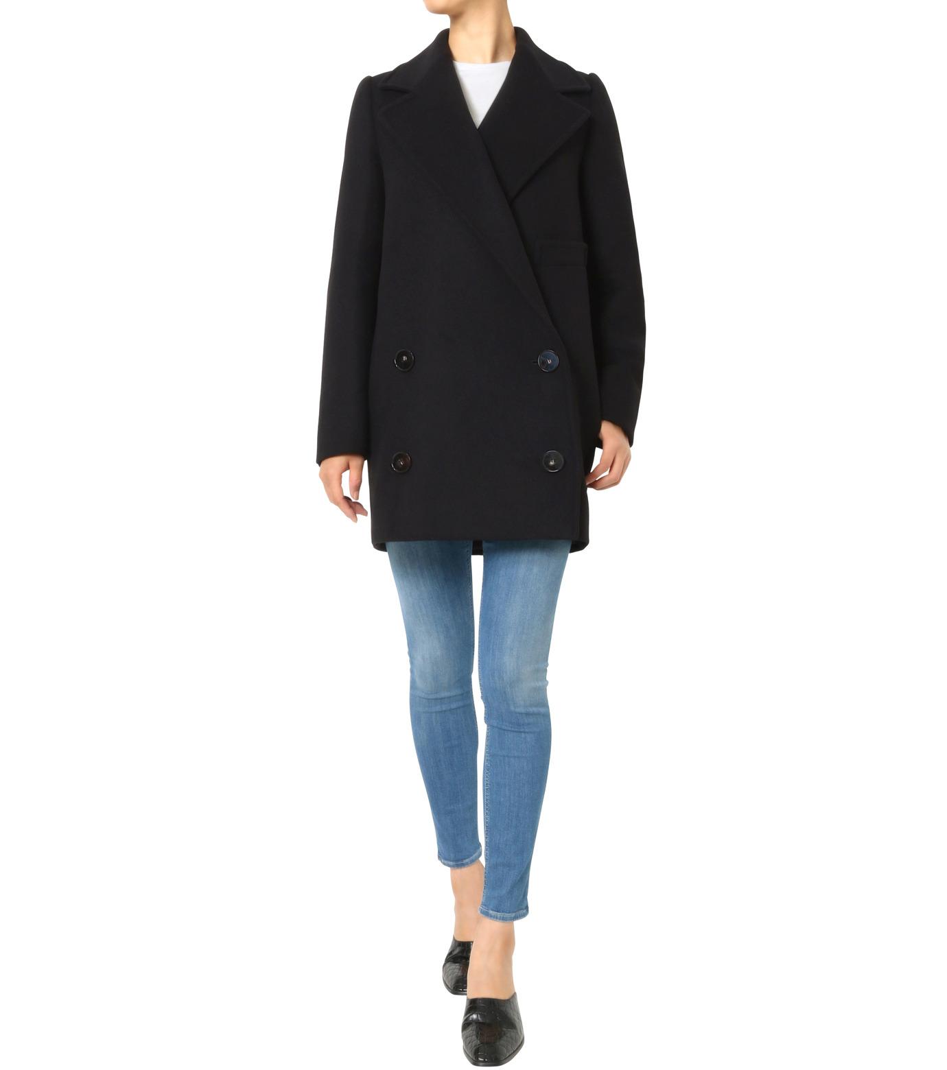 Stella McCartney(ステラマッカートニー)のWool Melton Short Coat-BLACK(コート/coat)-393143-SDB40-13 拡大詳細画像3