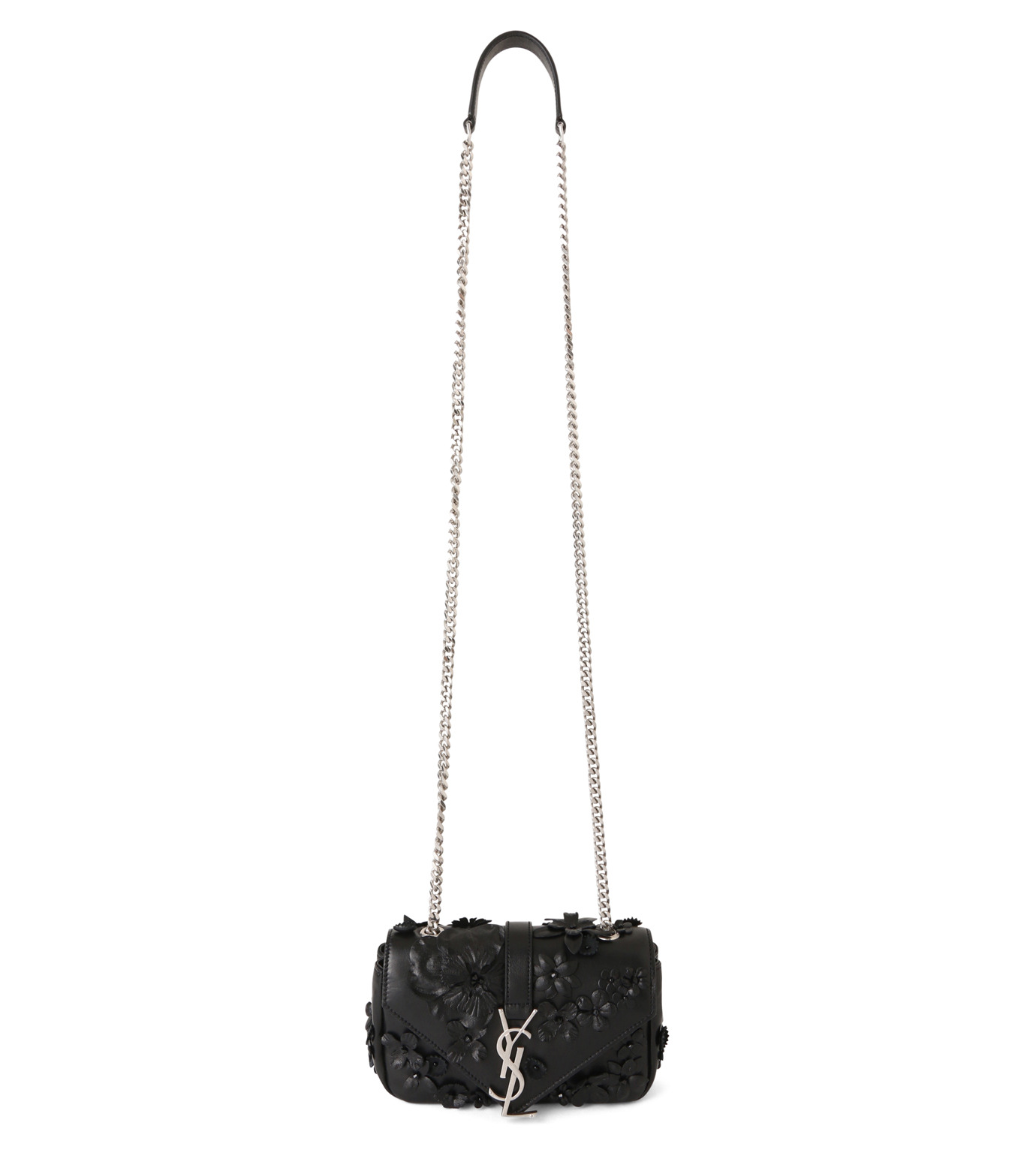 SAINT LAURENT(サンローラン)のMonogramme Baby Chain Emb Flowers-BLACK(ショルダーバッグ/shoulder bag)-399289-BL4U6-13 拡大詳細画像1