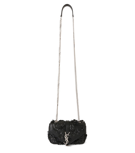 SAINT LAURENT(サンローラン)のMonogramme Baby Chain Emb Flowers-BLACK(ショルダーバッグ/shoulder bag)-399289-BL4U6-13 詳細画像1