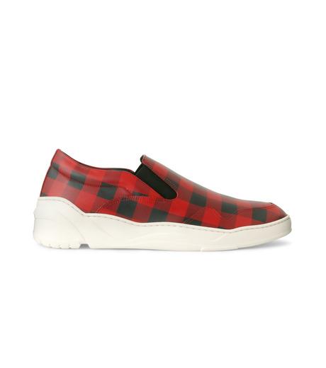 Dior Homme(ディオール オム)のCheck Slippon-RED(スニーカー/sneaker)-3SN178-XGW-62 詳細画像1