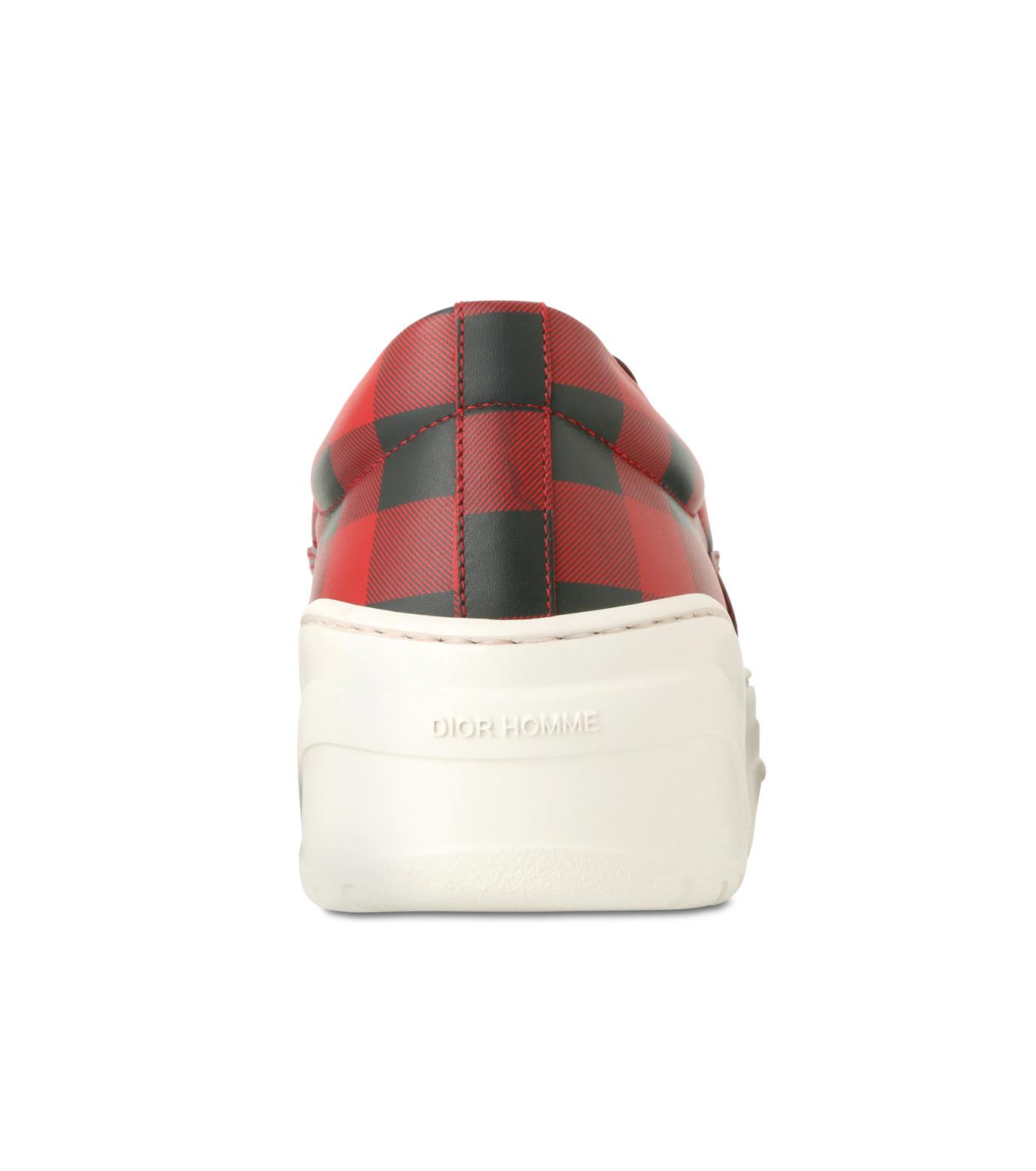 Dior Homme(ディオール オム)のCheck Slippon-RED(スニーカー/sneaker)-3SN178-XGW-62 拡大詳細画像2