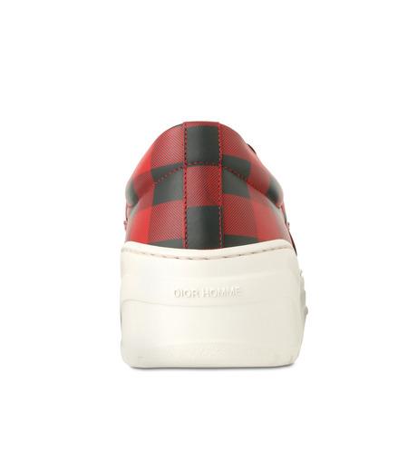 Dior Homme(ディオール オム)のCheck Slippon-RED(スニーカー/sneaker)-3SN178-XGW-62 詳細画像2