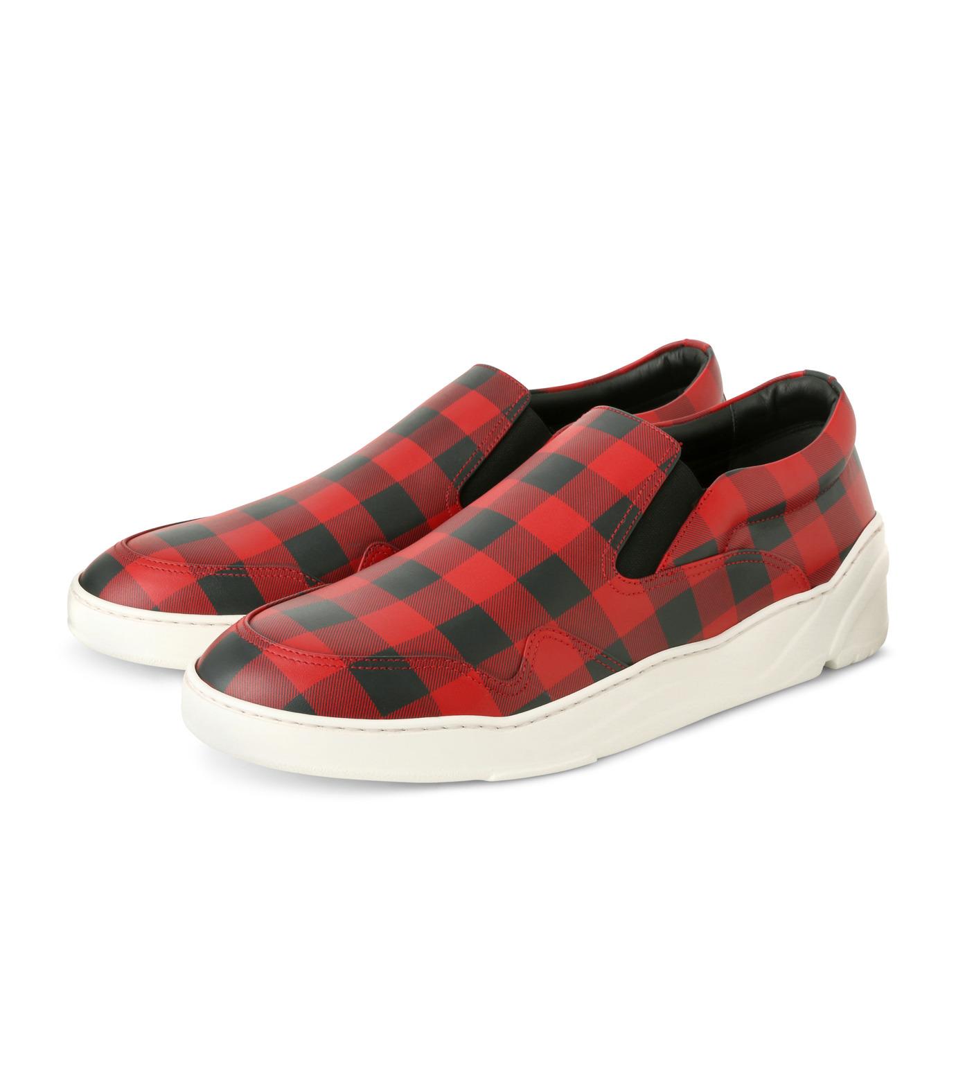 Dior Homme(ディオール オム)のCheck Slippon-RED(スニーカー/sneaker)-3SN178-XGW-62 拡大詳細画像3