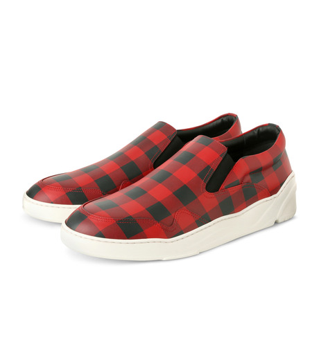 Dior Homme(ディオール オム)のCheck Slippon-RED(スニーカー/sneaker)-3SN178-XGW-62 詳細画像3