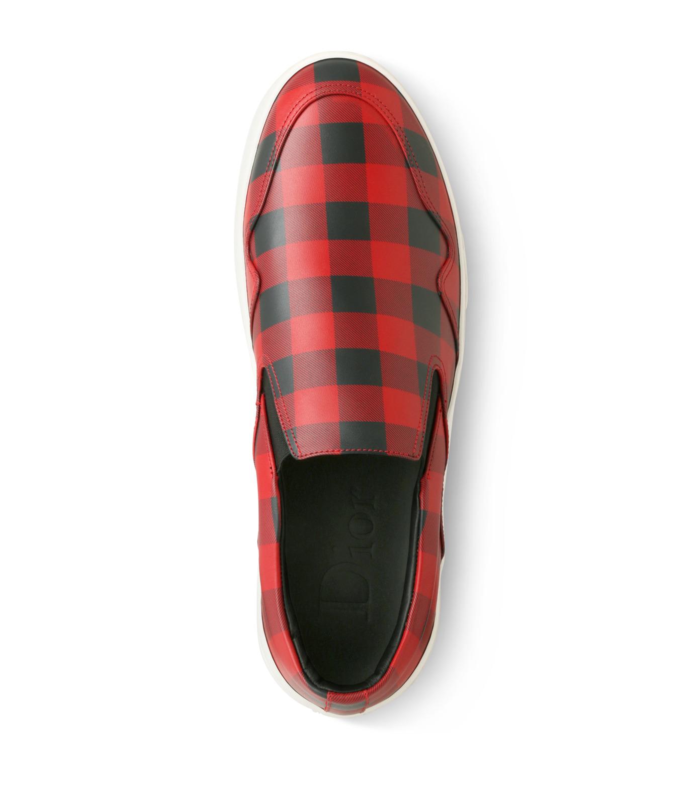 Dior Homme(ディオール オム)のCheck Slippon-RED(スニーカー/sneaker)-3SN178-XGW-62 拡大詳細画像4