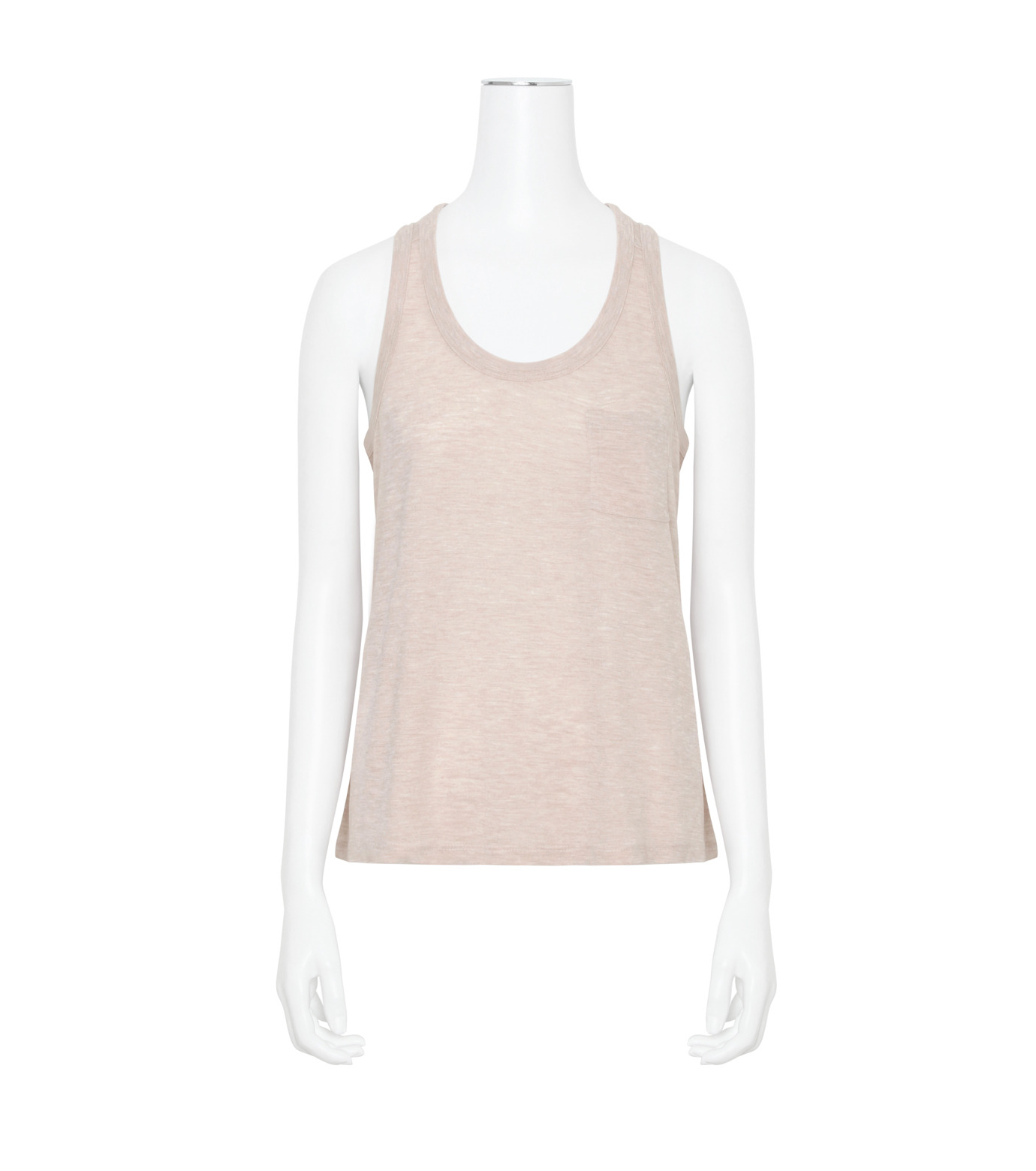 T by Alexander Wang(ティーバイ アレキサンダーワン)のJersey Tank w/Pkt-LIGHT PINK(カットソー/cut and sewn)-400128R17-71 拡大詳細画像1