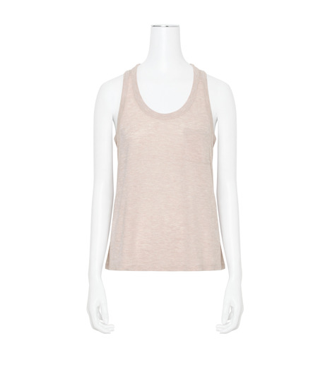 T by Alexander Wang(ティーバイ アレキサンダーワン)のJersey Tank w/Pkt-LIGHT PINK(カットソー/cut and sewn)-400128R17-71 詳細画像1