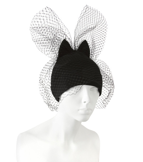 Federica Moretti(フェデリカ モレッティ)のBow Knit Cap w/Veil-BLACK(キャップ/cap)-40016-13 詳細画像3