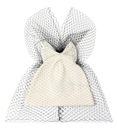 Federica Moretti(フェデリカ モレッティ)のBow Knit Cap w/Veil-WHITE(キャップ/cap)-40017-5 詳細画像1