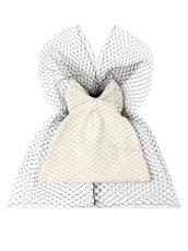 Federica Moretti Bow Knit Cap w/Veil