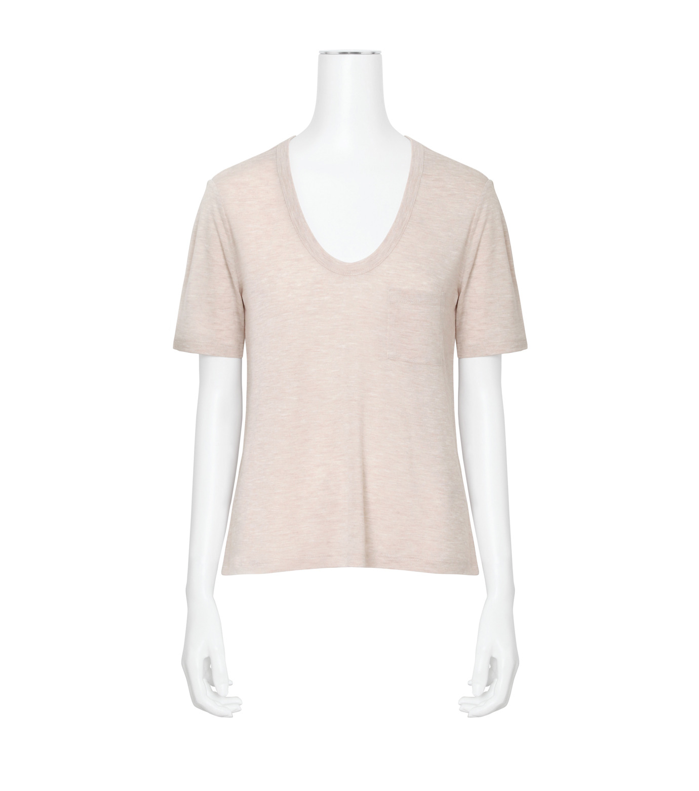 T by Alexander Wang(ティーバイ アレキサンダーワン)のCropped T w/Pkt-LIGHT PINK(カットソー/cut and sewn)-400203R17-71 拡大詳細画像1