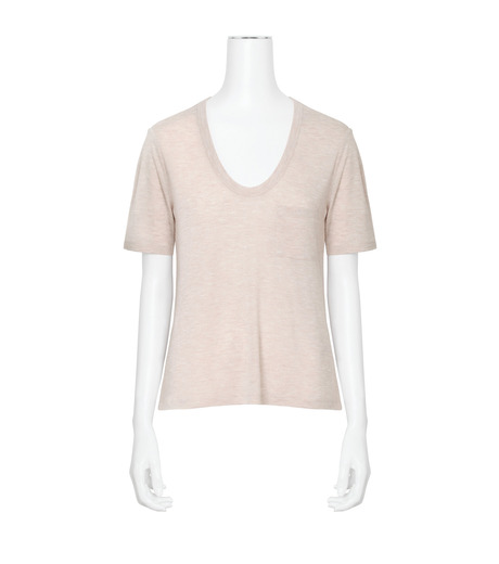 T by Alexander Wang(ティーバイ アレキサンダーワン)のCropped T w/Pkt-LIGHT PINK(カットソー/cut and sewn)-400203R17-71 詳細画像1