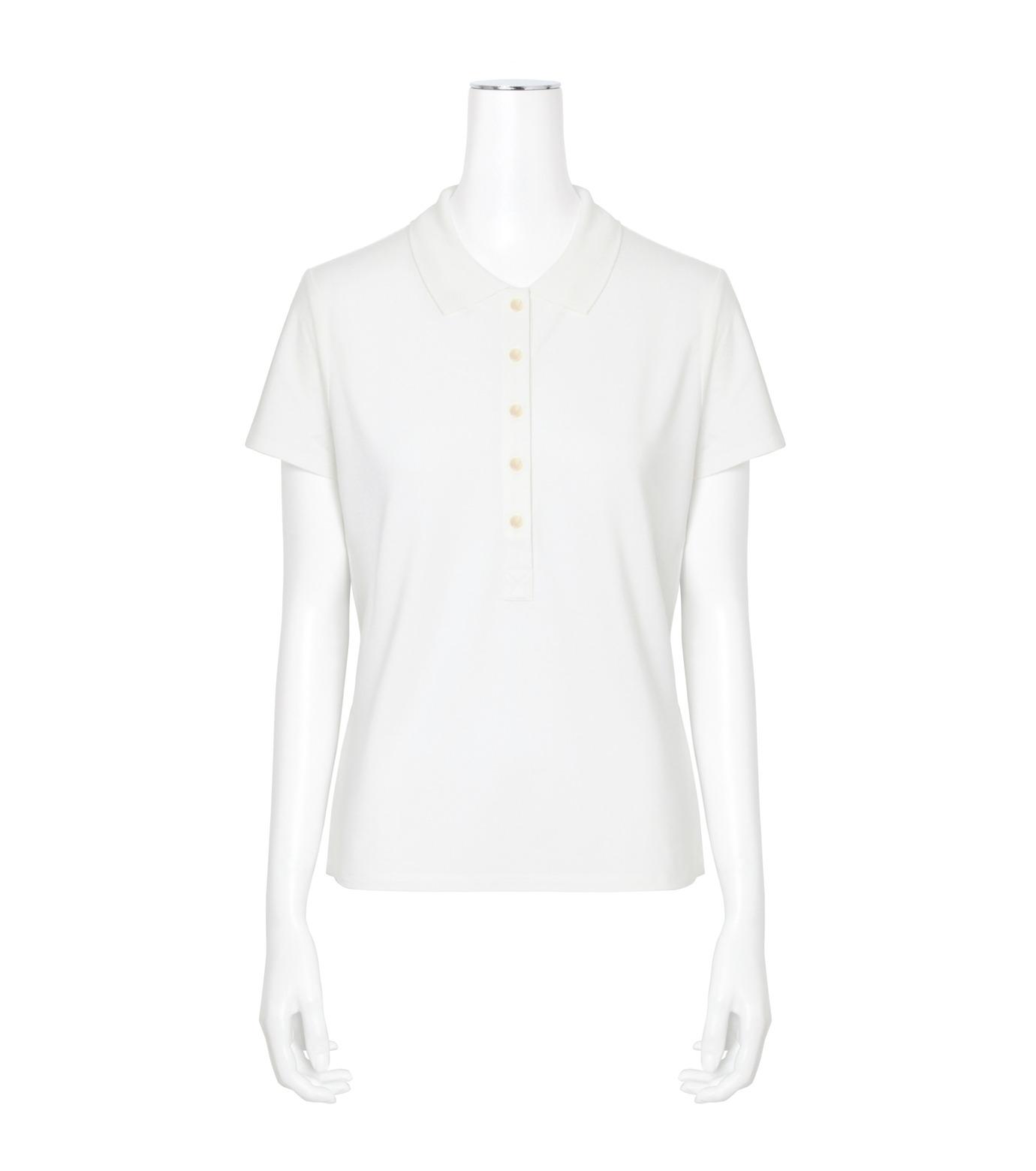 T by Alexander Wang(ティーバイ アレキサンダーワン)のSS Polo Tee-WHITE(カットソー/cut and sewn)-400204R17-5 拡大詳細画像1