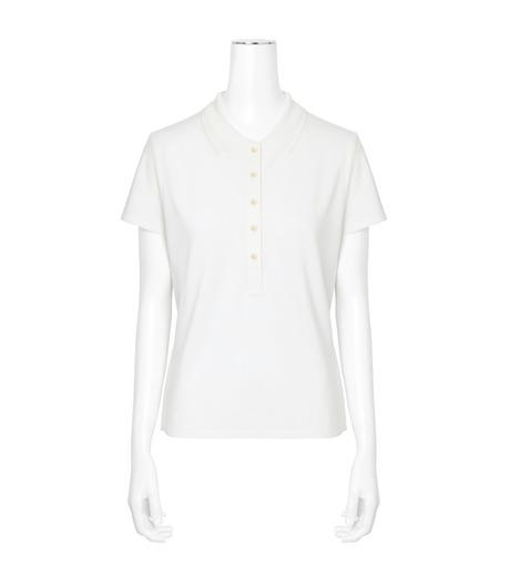 T by Alexander Wang(ティーバイ アレキサンダーワン)のSS Polo Tee-WHITE(カットソー/cut and sewn)-400204R17-5 詳細画像1
