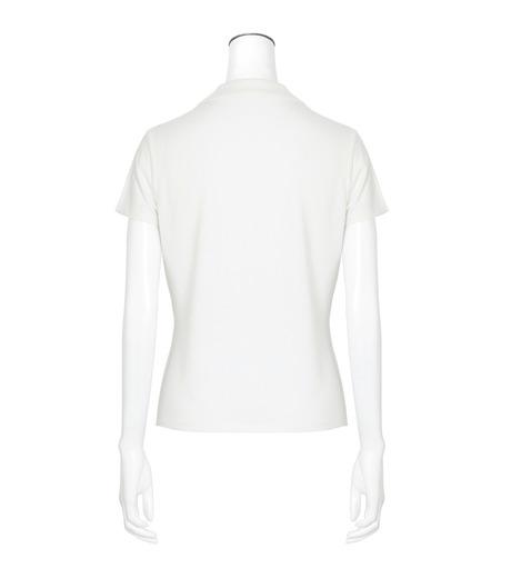 T by Alexander Wang(ティーバイ アレキサンダーワン)のSS Polo Tee-WHITE(カットソー/cut and sewn)-400204R17-5 詳細画像2
