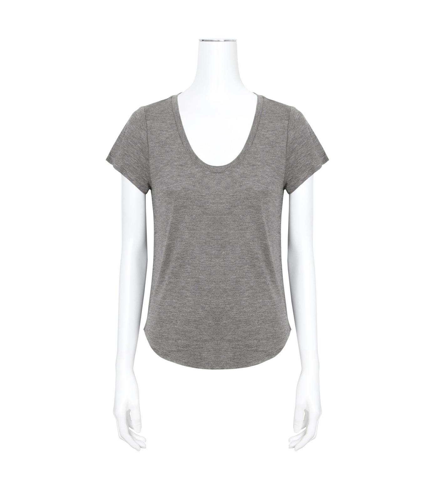T by Alexander Wang(ティーバイ アレキサンダーワン)のVneck Cap Slv T-GRAY(カットソー/cut and sewn)-400215-11 拡大詳細画像1