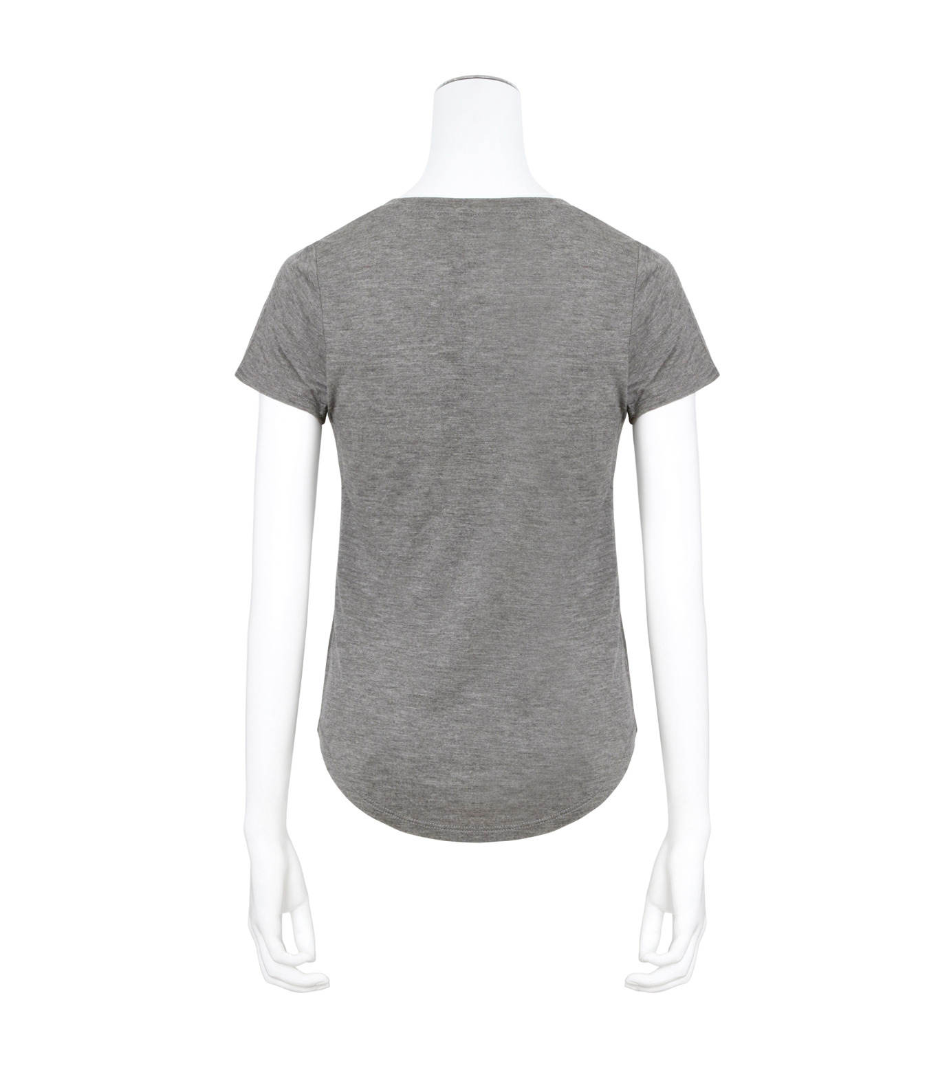 T by Alexander Wang(ティーバイ アレキサンダーワン)のVneck Cap Slv T-GRAY(カットソー/cut and sewn)-400215-11 拡大詳細画像2