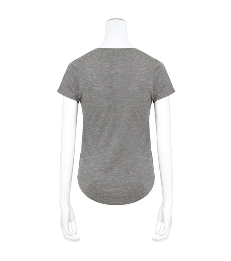 T by Alexander Wang(ティーバイ アレキサンダーワン)のVneck Cap Slv T-GRAY(カットソー/cut and sewn)-400215-11 詳細画像2