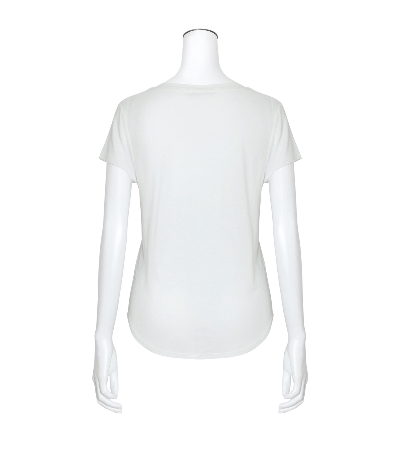 T by Alexander Wang(ティーバイ アレキサンダーワン)のCap Slv Henley T-WHITE(カットソー/cut and sewn)-400218-4 拡大詳細画像2