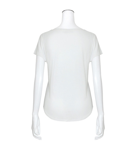 T by Alexander Wang(ティーバイ アレキサンダーワン)のCap Slv Henley T-WHITE(カットソー/cut and sewn)-400218-4 詳細画像2