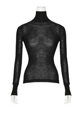 T by Alexander Wang Sheer Rib LS Turtleneck