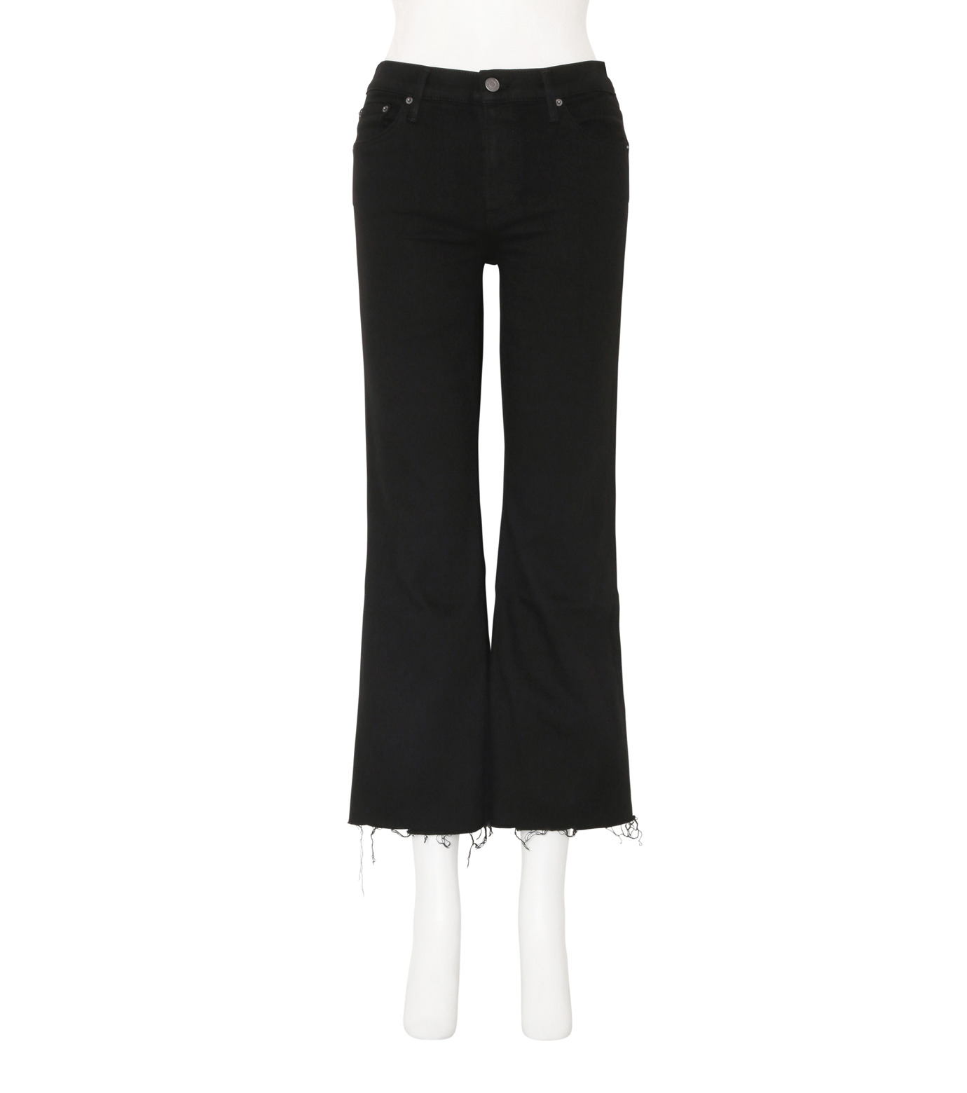 GRLFRND()のCrop Flare w/Comfort Stretch-BLACK(デニム/denim)-4010WH-03-13 拡大詳細画像1