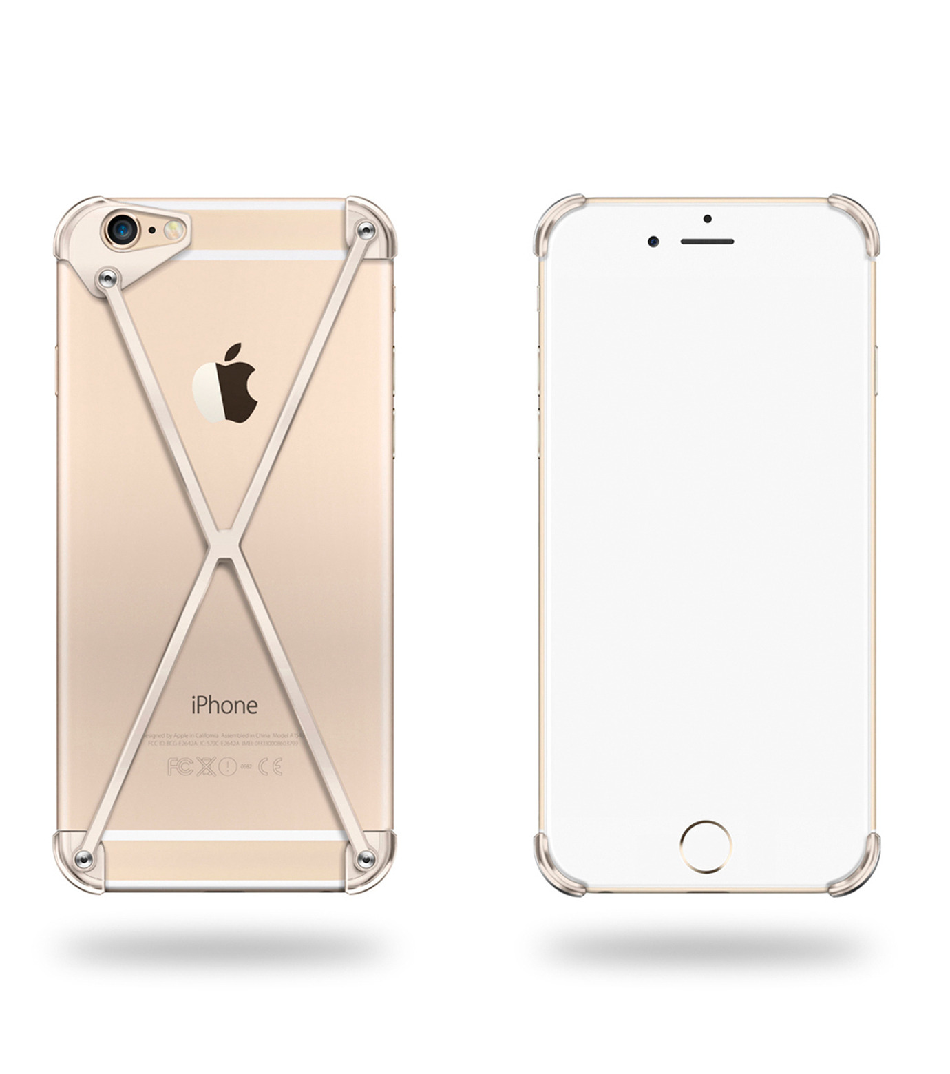 RADIUS(ラディウス)のRADIUS 6s ALL GOLD X-GOLD(ケースiphone6/6s/case iphone6/6s)-402303-GD-2 拡大詳細画像1