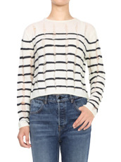 T by Alexander Wang Needle Merino Cropped Pullover
