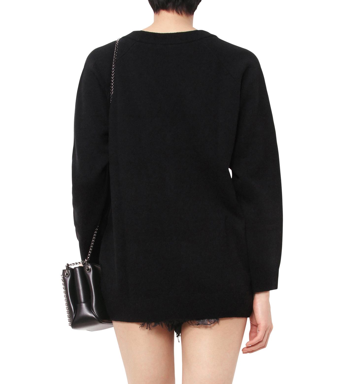 T by Alexander Wang(ティーバイ アレキサンダーワン)のCashwool Deep V Sweater-BLACK(ニット/knit)-402317R16-13 拡大詳細画像2