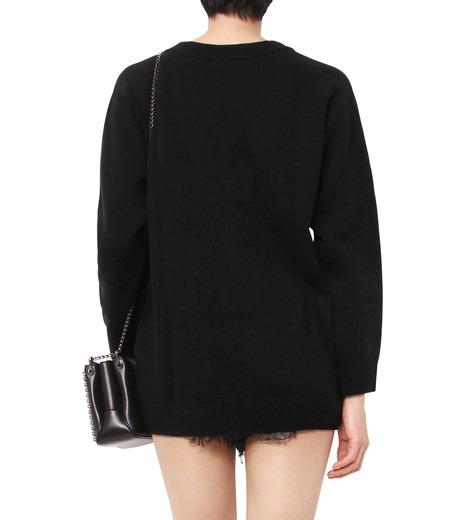 T by Alexander Wang(ティーバイ アレキサンダーワン)のCashwool Deep V Sweater-BLACK(ニット/knit)-402317R16-13 詳細画像2