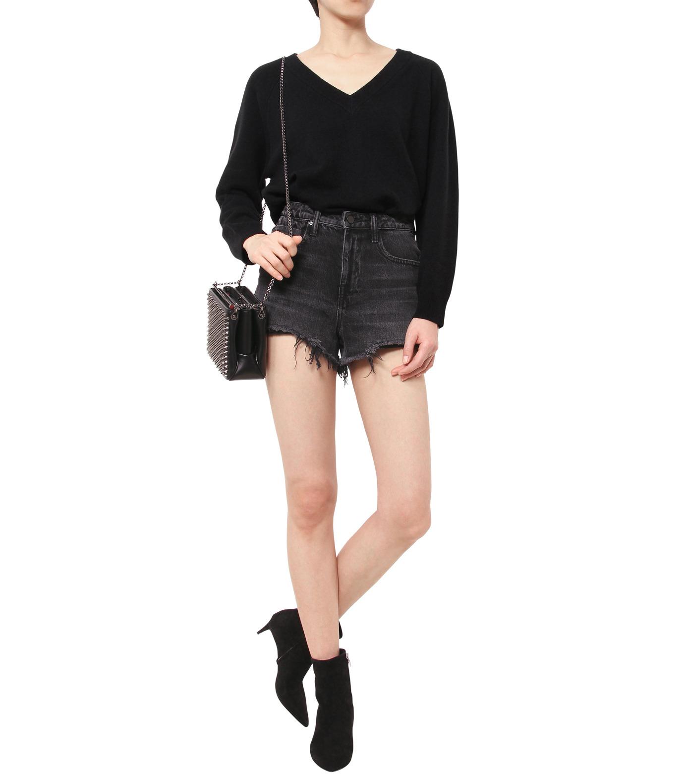 T by Alexander Wang(ティーバイ アレキサンダーワン)のCashwool Deep V Sweater-BLACK(ニット/knit)-402317R16-13 拡大詳細画像3