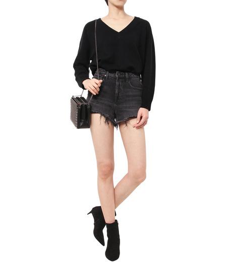 T by Alexander Wang(ティーバイ アレキサンダーワン)のCashwool Deep V Sweater-BLACK(ニット/knit)-402317R16-13 詳細画像3