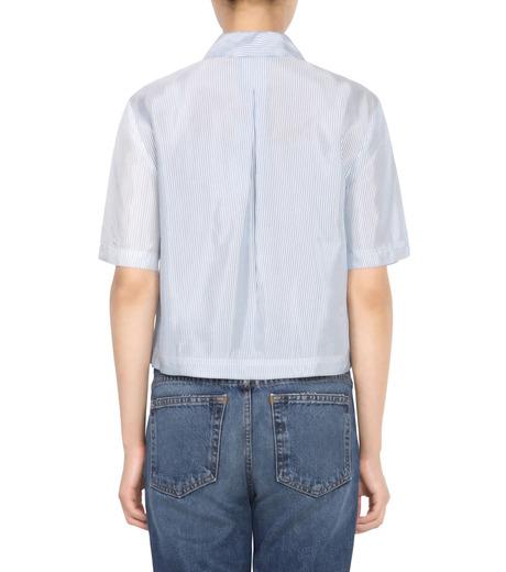 T by Alexander Wang(ティーバイ アレキサンダーワン)のWashed Stripe SS Shirt-NAVY(シャツ/shirt)-403202P16-93 詳細画像2