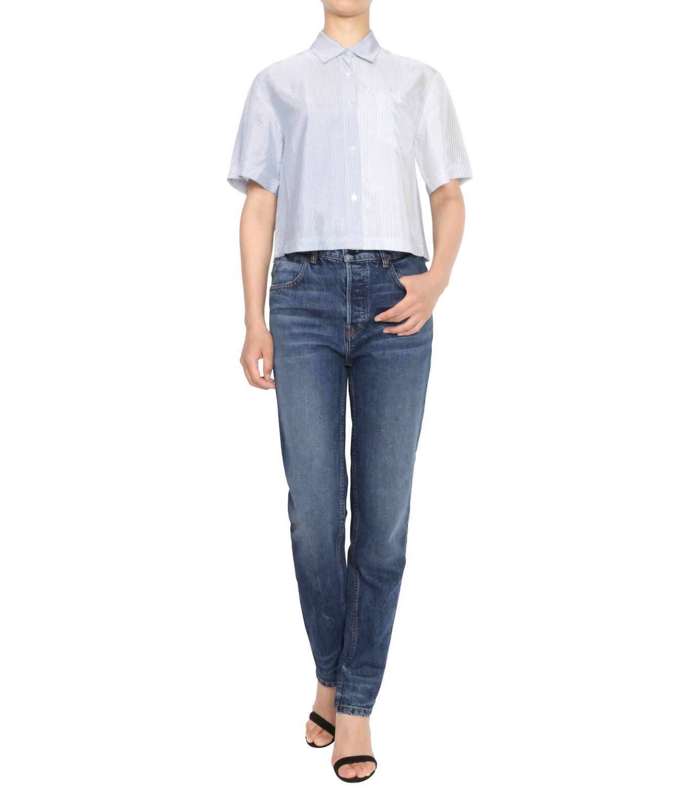 T by Alexander Wang(ティーバイ アレキサンダーワン)のWashed Stripe SS Shirt-NAVY(シャツ/shirt)-403202P16-93 拡大詳細画像3