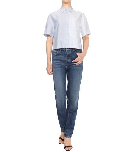 T by Alexander Wang(ティーバイ アレキサンダーワン)のWashed Stripe SS Shirt-NAVY(シャツ/shirt)-403202P16-93 詳細画像3