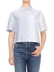 T by Alexander Wang Washed Stripe SS Shirt