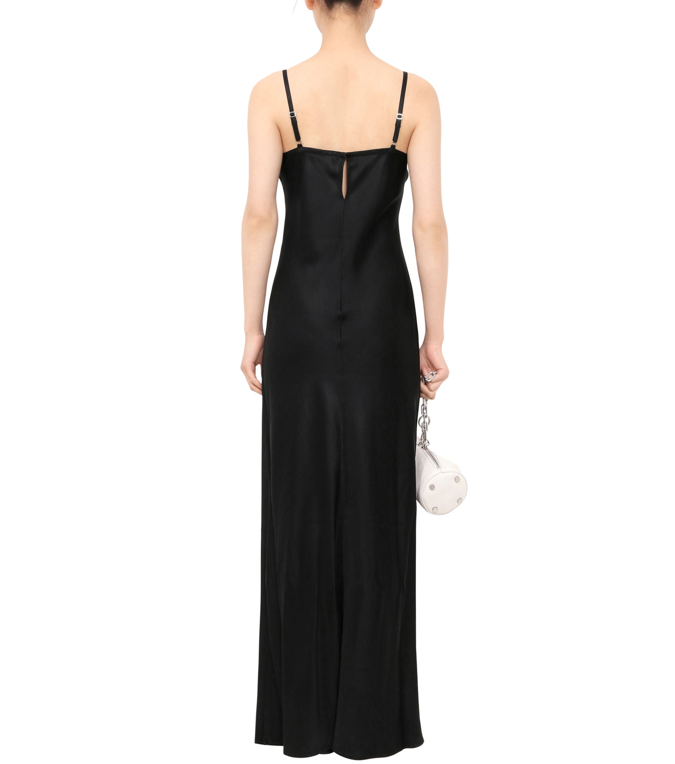 T by Alexander Wang(ティーバイ アレキサンダーワン)のSatin Slip Dress-BLACK(ワンピース/one piece)-403406S16-13 拡大詳細画像2