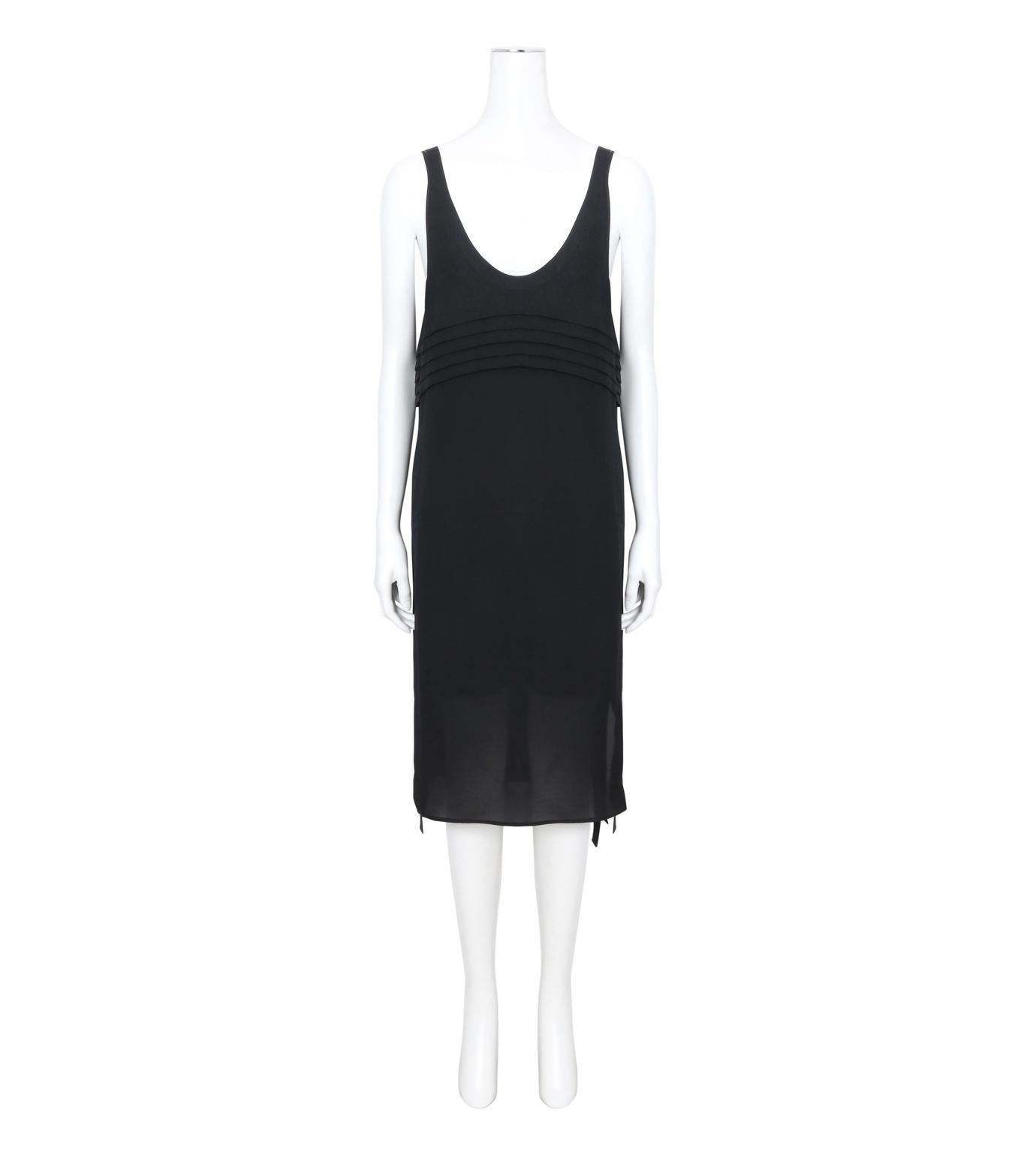 T by Alexander Wang(ティーバイ アレキサンダーワン)のPleated Front Tie Tank Dress-BLACK(ワンピース/one piece)-403417R17-13 拡大詳細画像1