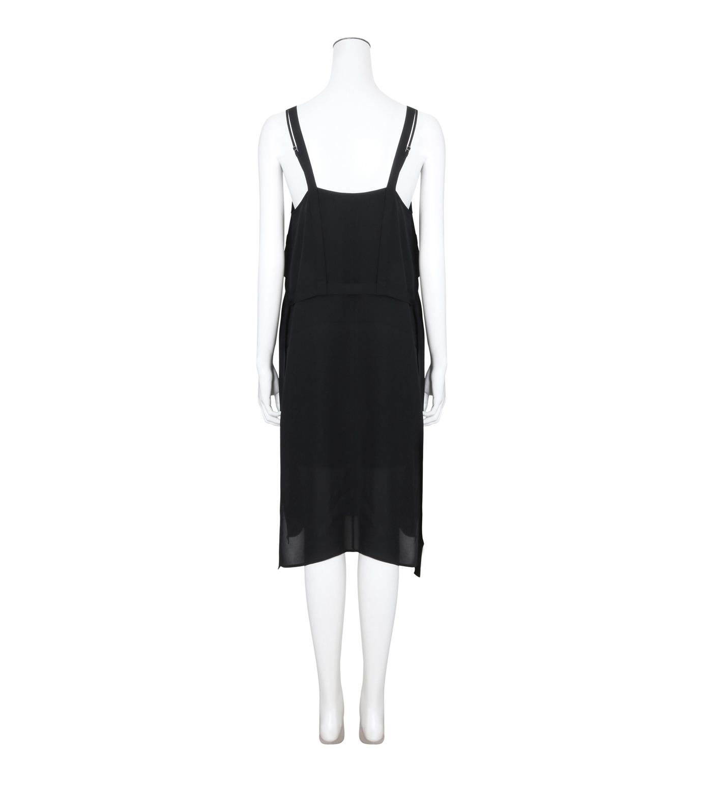 T by Alexander Wang(ティーバイ アレキサンダーワン)のPleated Front Tie Tank Dress-BLACK(ワンピース/one piece)-403417R17-13 拡大詳細画像2