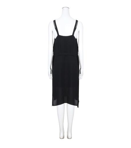 T by Alexander Wang(ティーバイ アレキサンダーワン)のPleated Front Tie Tank Dress-BLACK(ワンピース/one piece)-403417R17-13 詳細画像2