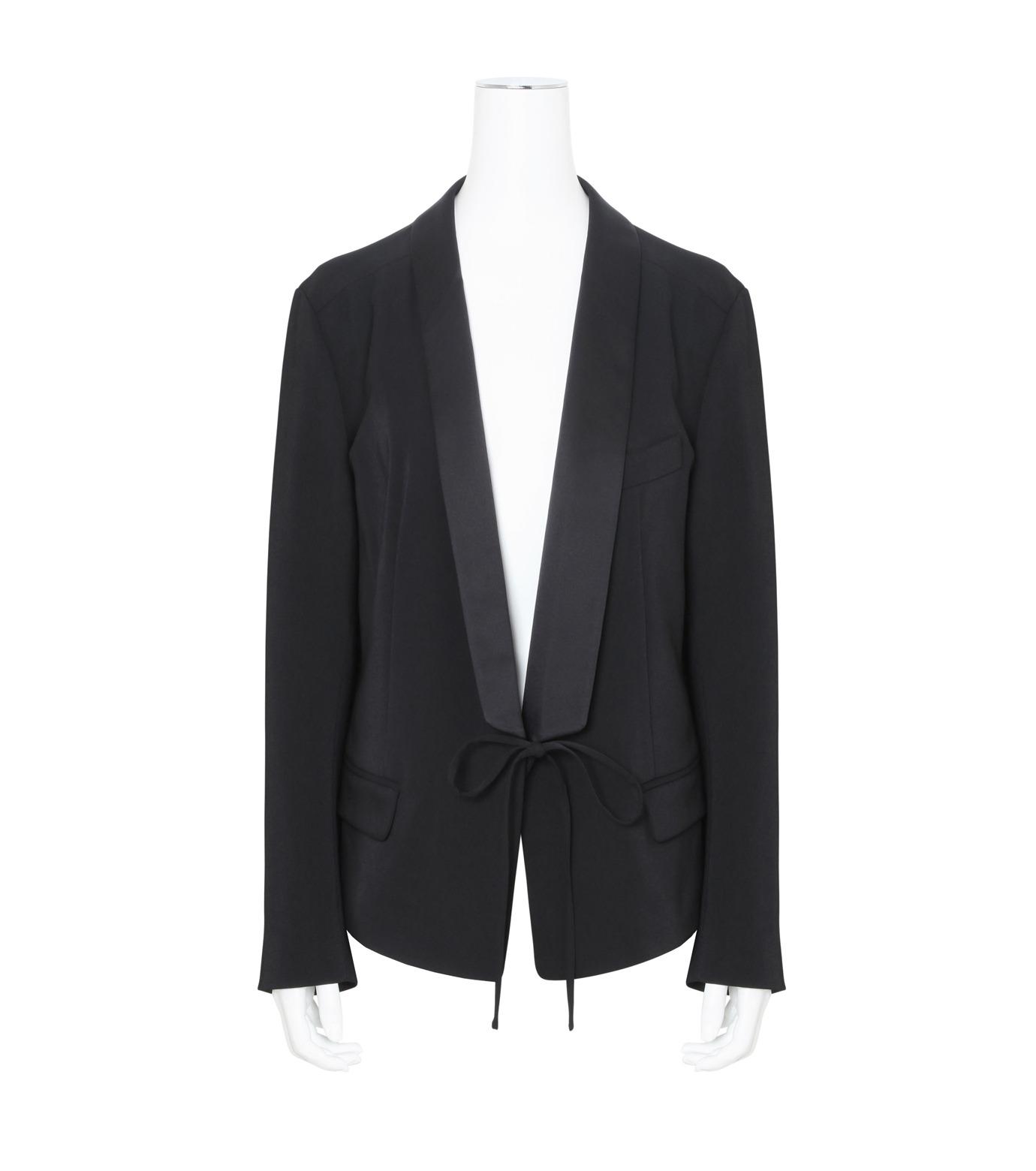 T by Alexander Wang(ティーバイ アレキサンダーワン)のFront Tie Tux Blazer-BLACK(ジャケット/jacket)-403500R17-13 拡大詳細画像1