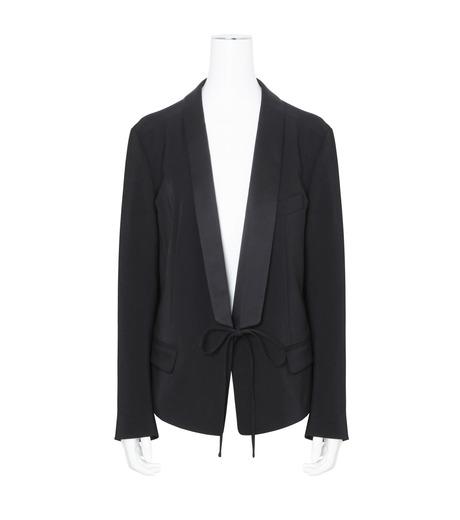 T by Alexander Wang(ティーバイ アレキサンダーワン)のFront Tie Tux Blazer-BLACK(ジャケット/jacket)-403500R17-13 詳細画像1