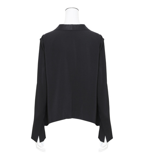 T by Alexander Wang(ティーバイ アレキサンダーワン)のFront Tie Tux Blazer-BLACK(ジャケット/jacket)-403500R17-13 詳細画像2