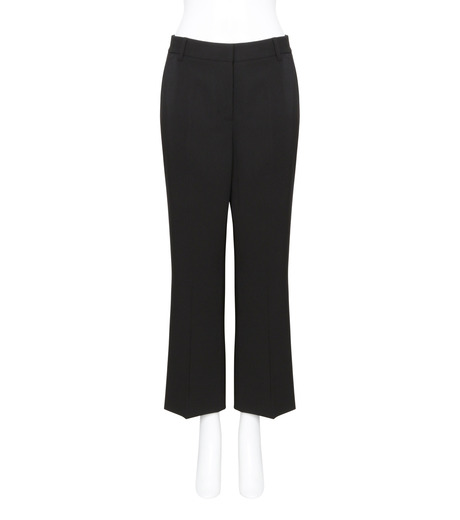 T by Alexander Wang(ティーバイ アレキサンダーワン)のFront Pleat Crop Trousers-BLACK(パンツ/pants)-403714R17-13 詳細画像1