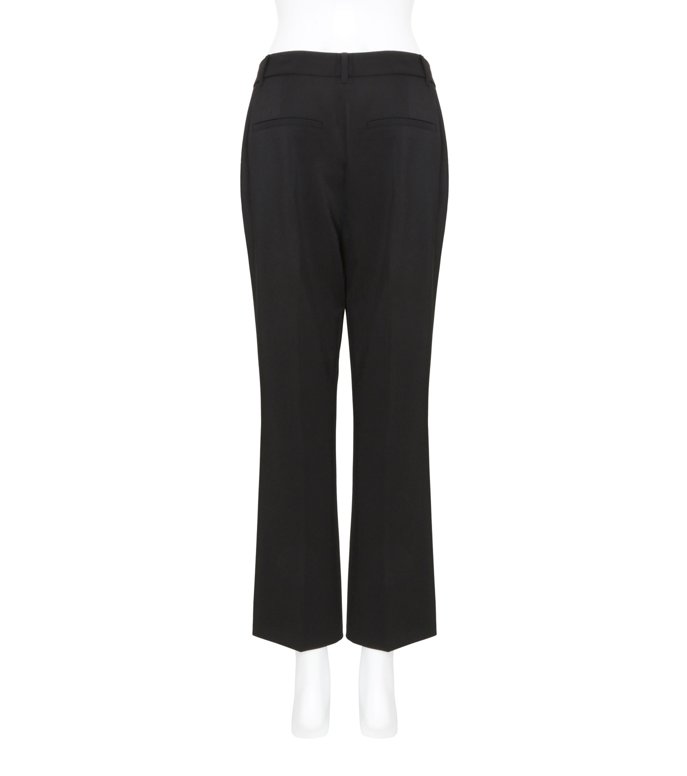 T by Alexander Wang(ティーバイ アレキサンダーワン)のFront Pleat Crop Trousers-BLACK(パンツ/pants)-403714R17-13 拡大詳細画像2