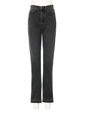 GRLFRND High-rise Skinny Split Outseam