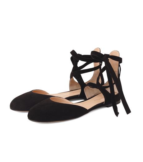 Gianvito Rossi(ジャンヴィト ロッシ)のNew Round Toe Flat w/Ankle Strap-BLACK(フラットシューズ/Flat shoes)-40615-13 詳細画像3